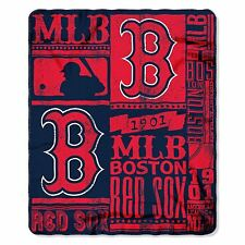Boston Red Sox Throw Blanket Fleece MLB Strength Printed