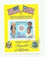 Liberia - Scott# C214 American Bicentennial Souvenir Sheet - CTO   stk#ph