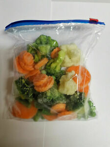 ZIP LOCK FOOD STORAGE FREEZER BAGS RESEALABLE REUSABLE PLASTIC BAGS SMALL LARGE