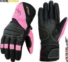 LADIES PINK SPEED MAXX WOMENS MOTORBIKE / MOTORCYCLE / MOTOCROSS TEXTILE GLOVES