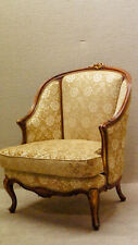 Walnut French Living Room Chair Newly Upholstered & Restored