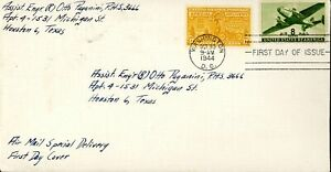 US FDC Special Delivery #E18 - Postman and Motorcycle (1944)
