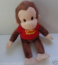 """LARGE 16   CLASSIC """"CURIOUS GEORGE RED SHIRT BROWN & TAN  MONKEY BY APPLAUSE"""
