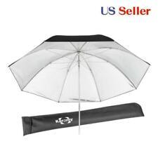 "Flash Light studio Umbrella 34"" 86cm Speedlight strobe reflector Black silver"