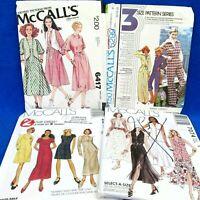 McCalls Misses Patterns Lot 4 7074 5299 6417 2042 Dresses Jumpsuit Skirt Top VTG