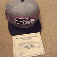 Seattle Seahawks 2015 Bca Patrick Lewis Hat Breast Cancer Awareness issued w/Coa
