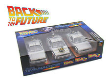 "DE LOREAN TIME MACHINE ""BACK TO THE FUTURE 1,2,3"" TRILOGY PACK  1/24 22400-3G"