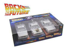 "DE LOREAN TIME MACHINE ""BACK TO THE FUTURE 1,2,3"" TRILOGY PACK  1/24 22400-3G"