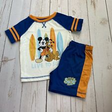 Disney - Mickey Mouse Size 3 Matching Short Sleeve Outfit