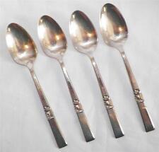 4 Morning Star Silverplate Teaspoons Teaspoon Oneida Community Flatware 1948