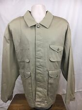 WOOLRICH, XL, BUTTON UP, LONG SLEEVE, KHAKI LIGHT JACKET