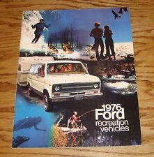 Original 1976 Ford Recreation Vehicles Sales Brochure 76 Mustang Bronco Pickup