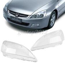 Car Headlight Headlamp Clear Lens Lenses Lamp Cover For Honda Accord 2003-2007