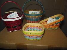 Longaberger 2016  Club Farm Miniature Collection (4 Mini baskets)