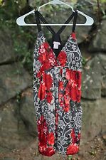 Wet Seal Sz SMALL / S Sleeveless Mini Bubble Dress FLORAL ROSES w/Lace Design