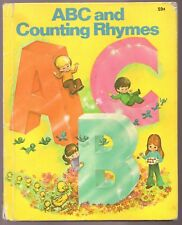 Vintage Children's Wonder Book ~ ABC AND COUNTING RHYMES