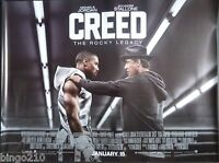 CREED ORIGINAL 2016 CINEMA QUAD POSTER SYLVESTER STALLONE MICHAEL B JORDAN ROCKY