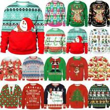 Ugly Christmas Snowman Sweater Womens Mens Xmas Jumper Sweatshirt Pullover Tops