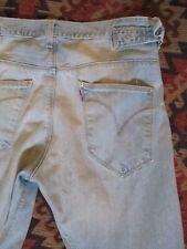 Levis Engineered vintage 90s stonewashed denim waist tabs twist leg jeans 33 32