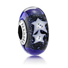Pandora NIGHT SKY MURANO Glass Charm Bead (genuine ale 925)
