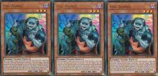 YUGIOH CARD - 3 X UNI-ZOMBIE  - BLRR-EN074  ULTRA  - RELENTLESS REVENGE