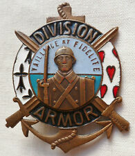 Insigne 1939 WWII 61° DI DIVISION INFANTERIE ARMOR Bretagne ORGINAL AB déposé