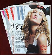 Lot of 4 W Fashion Magazines ~ 2002 ~ Reese Witherspoon Lauren Bush Karen Elson