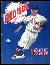 1955 Boston Red Sox Yearbook SCARCE Harry Agganis DEATH Edition