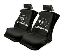 Seat Armour Universal Black Towel Front Seat Covers for Corvette C4 -Pair