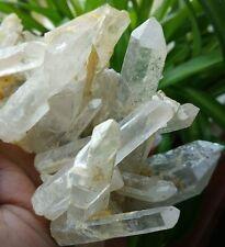 F2046 Natural Raw Ivory Quartz Crystal Cluster Mineral Specimen 428g