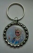 """Princess ELSA""  Disney's FROZEN, Bottle Cap on Key Ring"