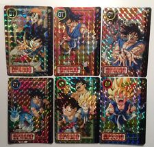 Cartes Dragon Ball GT Carddass Hondan Part 26 #Prism Set 6/6 Doubles Unpeeled