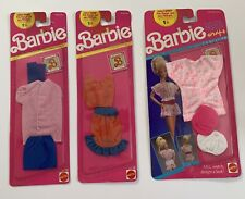 Lot of 3 - VTG BARBIE Doll Outfits NOS Original Package 1990: 2615 , 2723 & 4736