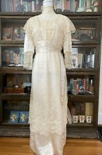 Antique, Edwardian, Gown with Lace, Beads and Satin