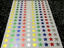 150 FOIL MIXED COLOURED STARS CHILDRENS REWARD STICKERS SHINY GOLD SILVER MULTI