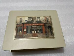 Chiu Hak Tak Art In Motion Tri-Coastal Designs Note Cards In Wood Box! Set 15!