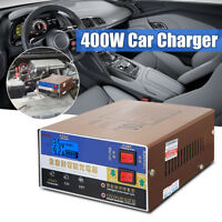 12V/24V 100AH Car Boat Dry & Wet Battery Charger Full Automatic Pulse Maintainer