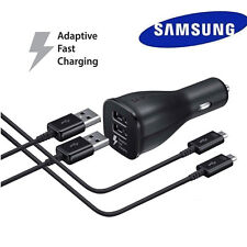 Fast Charger Dual Port Car Charger+2 x 5Ft Cable for Samsung Galaxy S7 Note 5 B
