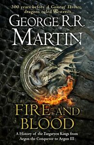 SIGNED/AUTOGRAPHED GEORGE RR MARTIN - FIRE AND BLOOD HARDBACK BOOK