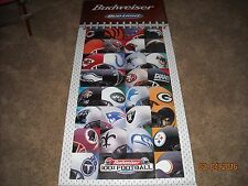 NFL[BUDWIESER]CANVAS BANNER(6 FEET BY 2 FEET 6 INCHS)HELMETS OF TEAMS, BRONCOS