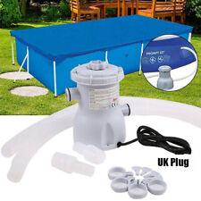 More details for electric swimming pool filter pump aquarium swimming tank water filtration uk