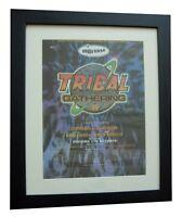 TRIBAL GATHERING+LUTON+POSTER+AD+RARE ORIGINAL 1996+FRAMED+EXPRESS GLOBAL SHIP