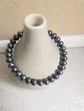 Black Peacock Pearl Bangle Bracelet
