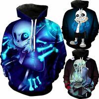 Game Undertale Sans Cosplay 3D Hoodie Sweatshirt Pullover Coat Hooded Jacket Top