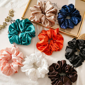 Large Scrunchies Silk Satin Elastic Hair Hair Bands Rope Tie Ponytail Accessory