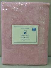 "Nip Pottery Barn Kids Pink Linen Sheer Tie Top Curtain Panel 44 x 84"""