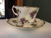 Vintage Salisbury Bone China Tea Cup & Saucer England