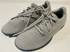 ALLBIRDS Mens Size 9 WOOL RUNNER LIGHT GRAY TAN Sneaker Shoes With BLUE Soles