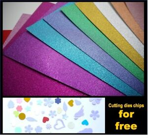 5/10 sheets 250gsm A4 glitter paper craft scrapbooking cardstock gold silver