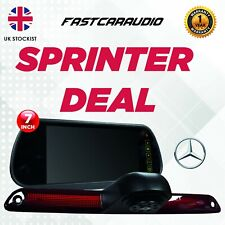 """7"""" TOUCH SCREEN MIRROR MONITOR WITH MERCEDES SPRINTER CRAFTER BREAKLIGHT CAMERA"""